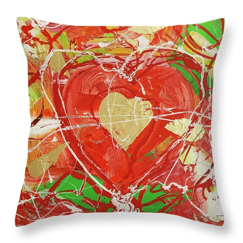 Jewel Heart - Throw Pillow