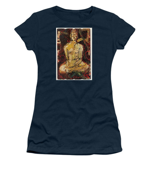 Sitting Buddha - Women's T-Shirt (Athletic Fit)