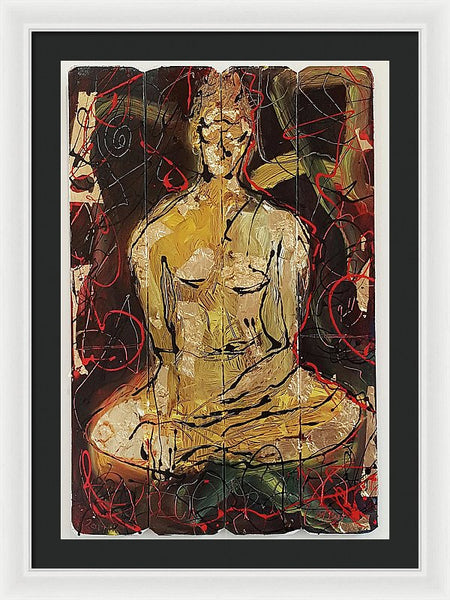 Sitting Buddha - Framed Print