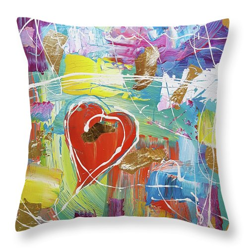 Temple Heart - Throw Pillow