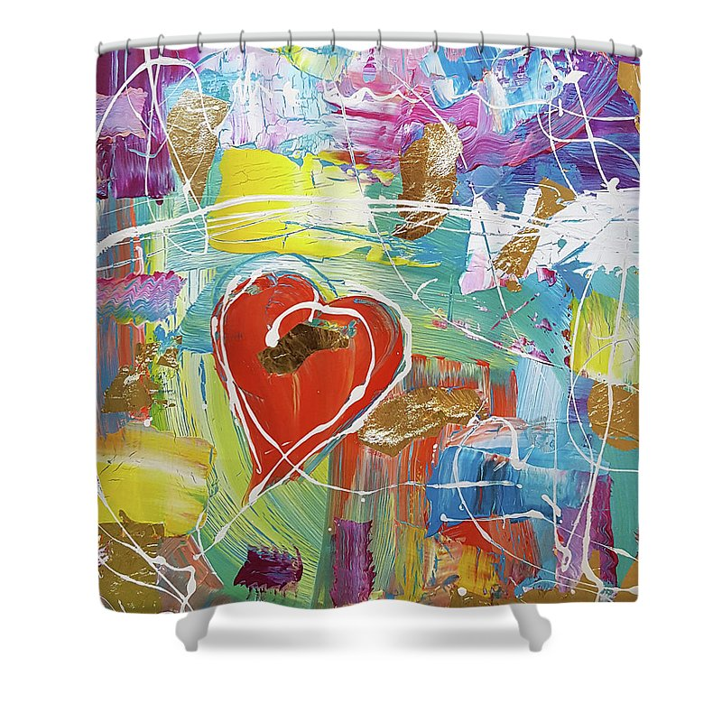 Temple Heart - Shower Curtain