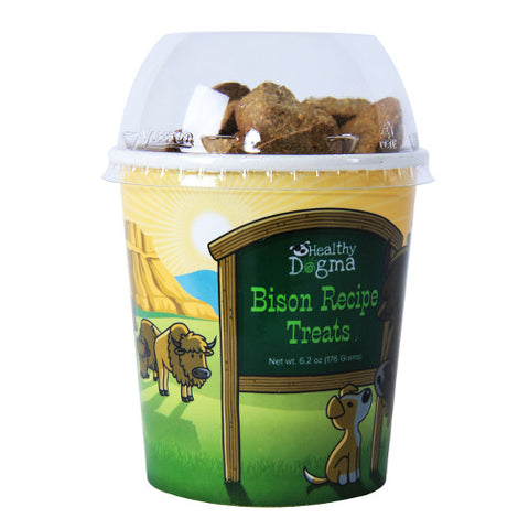 healthy dogma bison barkers dog treats front