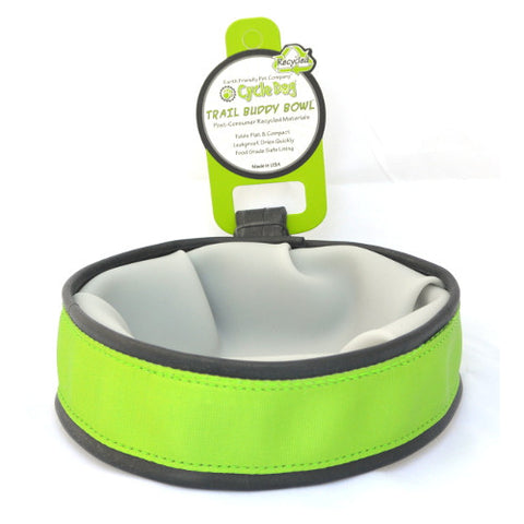 Cycle Dog Trail Buddy Travel Bowl: Green