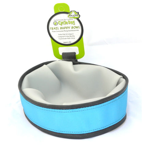 Cycle Dog Trail Buddy Travel Bowl: Blue