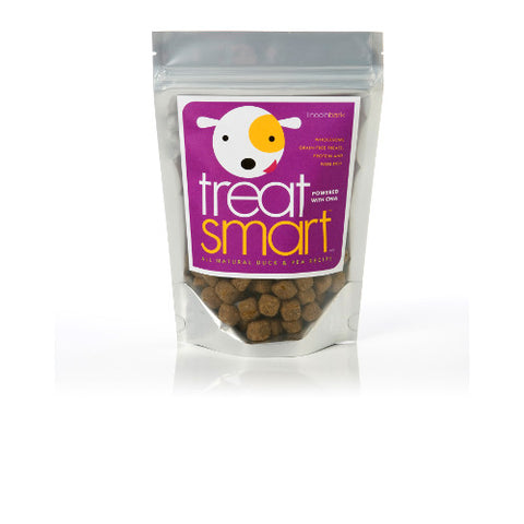 lincoln bark treat smart duck and pea dog treats