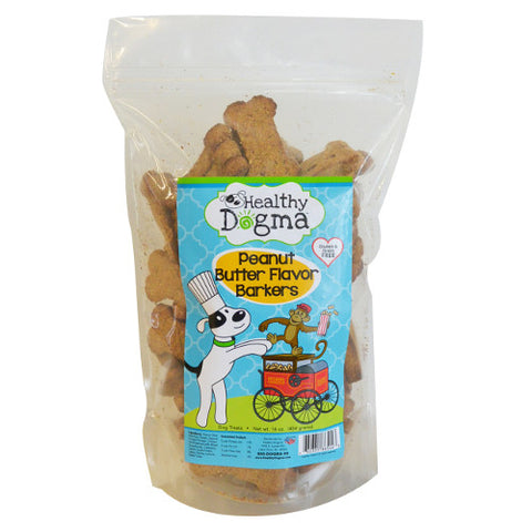 healthy dogma peanut butter barkers dog treats
