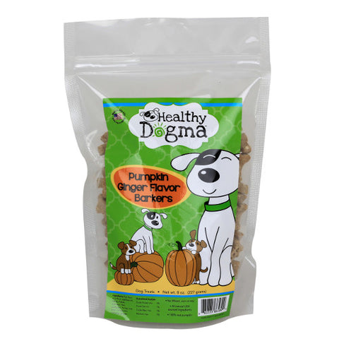 Healthy Dogma Pumpkin Ginger Mini Barkers Dog Treats