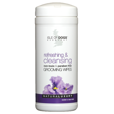 isle of dogs refreshing cleansing grooming wipes for dogs