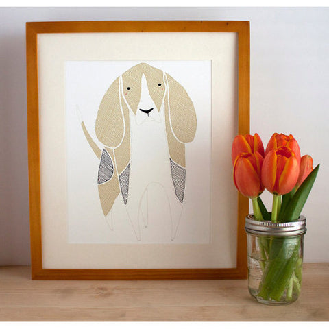gingiber beagle print dog home decor