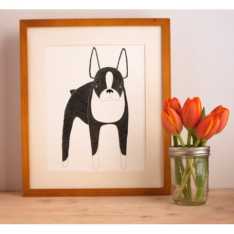 Gingiber Boston Terrier Print Dog Home Decor