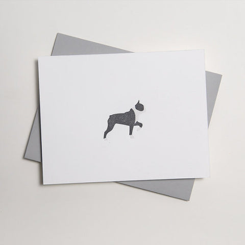 loyal supply co boston terrier letterpress card