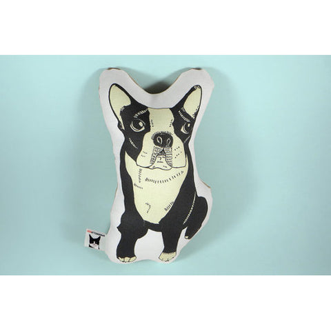 GoodAfternoonan Boston Terrier Pillow Front
