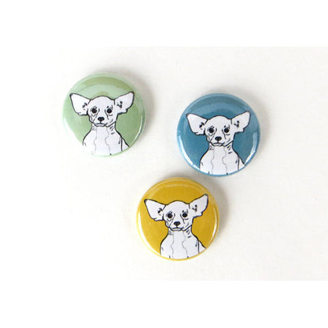 GoodAfternoonan Chihuahua Illustration Magnet Set Detail