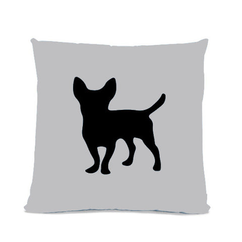 sophisticated pup Chihuahua Silhouette Throw Pillow