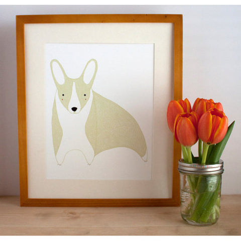 gingiber corgi print dog home decor