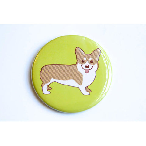 tiny bee cards corgi magnet