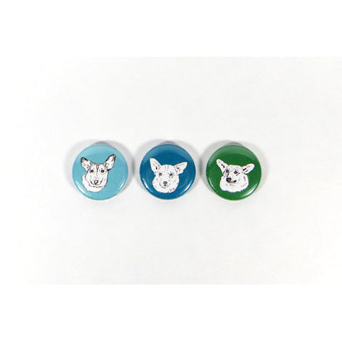 GoodAfternoonan Corgi Illustration Magnet Set