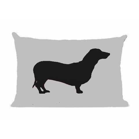 Sophisticated Pup Dachshund Silhouette Throw Pillow