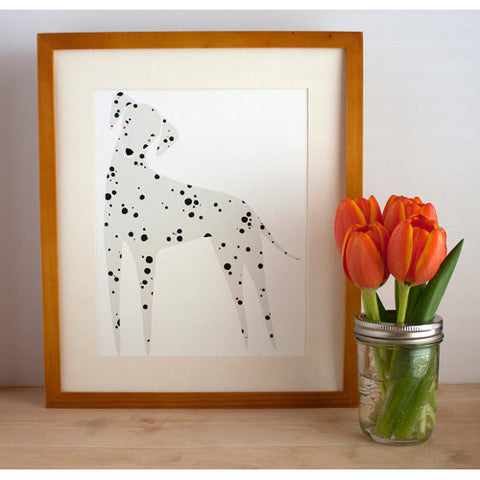 gingiber dalmatian print dog home decor