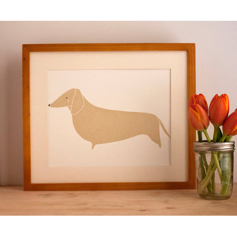 gingiber Dachshund Print dog home decor