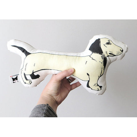 GoodAfternoonan Dachshund Illustration Pillow