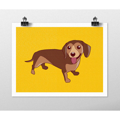 tiny bee cards dachshund print