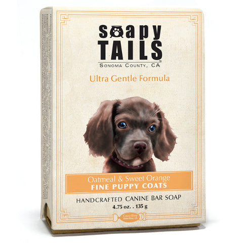 Soapy Tails Puppy Coat Shampoo Bar: Oatmeal and Sweet Orange