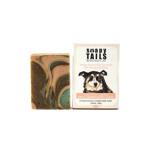 Soapy Tails Long Combination Coat Shampoo Bar: Cedar and Pink Grapefruit