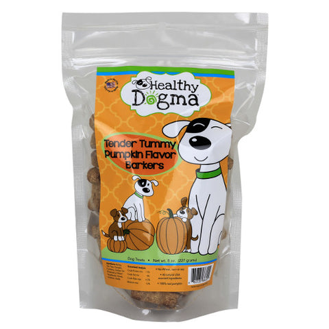 healthy dogma tender tummy pumpkin barkers dog treats