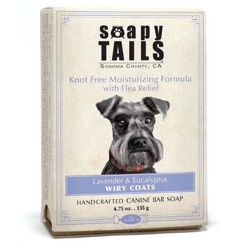 Soapy Tails Wiry Coat Shampoo Bar: Lavender and Eucalyptus