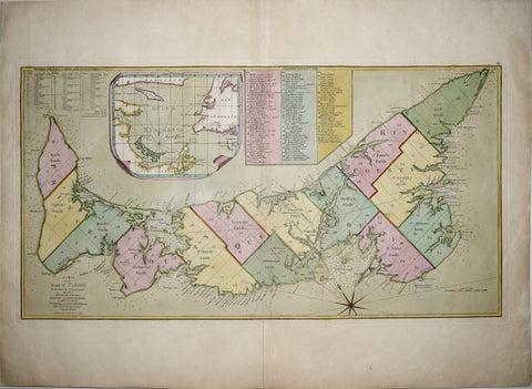 Samuel Holland/Thomas Jefferys, A Map of the Island of St. John In the Gulf of St. Laurence...