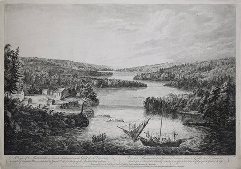 Paul Sandby (1731-1809),  A View of Miramichi, a French Settlement in the Gulf of St.Laurence, destroyed by Brigadier Murray