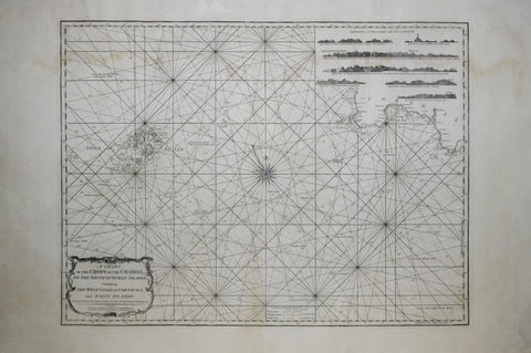 Robert Laurie (1755-1836) & James Whittle (c.1757-1818),  A Chart of the Chops of the Channel, to the South of Scilly Islands