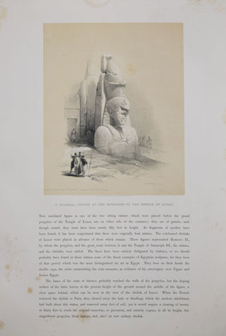 David Roberts (1796-1864),  A Colossal Statue at the Entrance to the Temple of Luxor