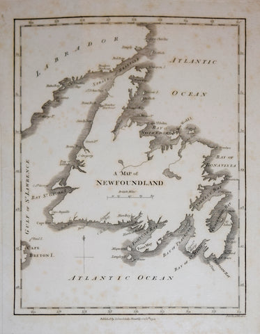 John Stockdale, A Map of Newfoundland