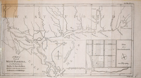 Gentleman's Magazine, A Map of Part of West Florida from Pensacola to the Mouth of Iberville River…
