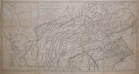 William Scull (1739-1784), A Map of Pennsylvania exhibiting not only the Improved Parts of the Province…