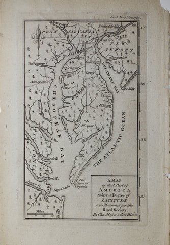 Charles Mason & Jeremiah Dixon, A Map of that Part of America...
