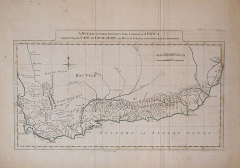 John Payne, A Map of the Southern Extremity of the Continent of Africa,..Cape of Good Hope, the Dutch Colonies & the Hottentot Settlements