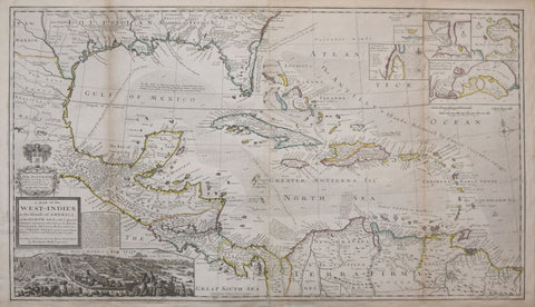 Herman Moll (1654 - 1732), A Map of the West Indies or Islands of America in the North Sea…