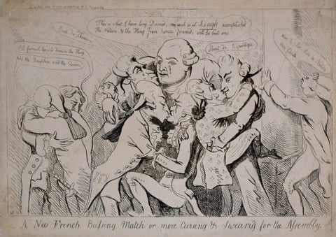Isaac Cruikshank (1764-1811), A New French Bussing Match or More Cursing