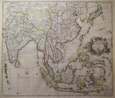John Senex (1678-1740),  A New Map of India and China…