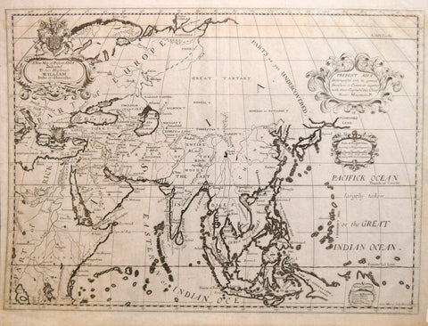 Edward Wells (1667-1727), A New Map of Present Asia..