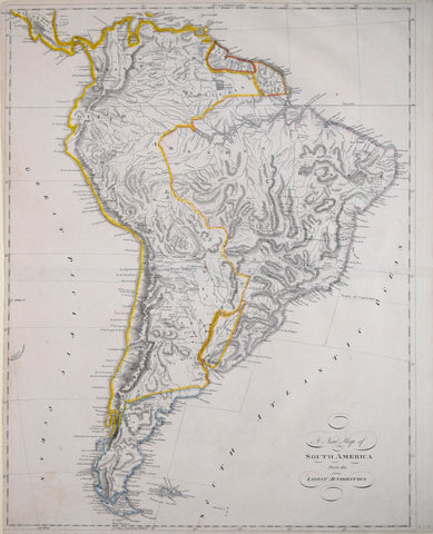 Mathew Carey (1760-1839), A New Map of South America from the Latest Authorities