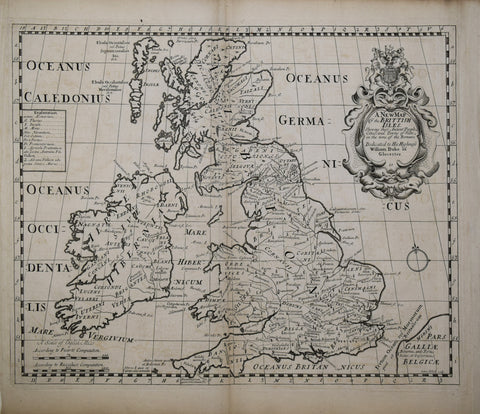 Edward Wells (1667-1727), A New Map of the British Isles...