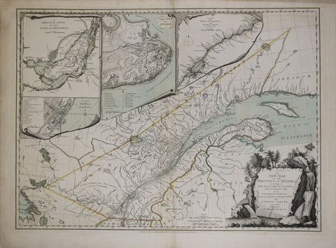 Robert Sayer & John Bennett, A New Map of the Province of Quebec
