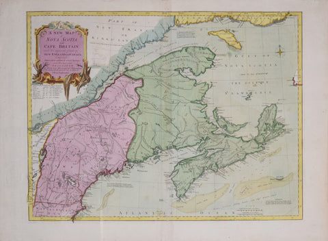 John Green,  A New Map of Nova Scotia and Cape Britain with the Adjacent Parts of New England and Canada