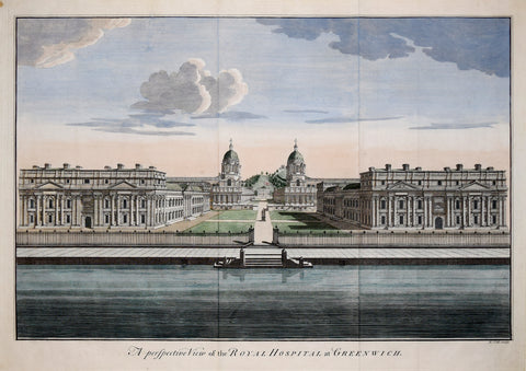 Benjamin Cole (1697-1783), engraver , A Perspective View of the Royal Hospital at Greenwich (London)