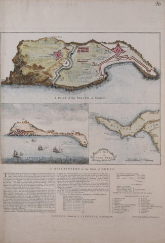 Thomas Jefferys (British, 1719-1771), A Plan of the Island of Goree, A View of the Island of Goree, A Map of Cape Verde