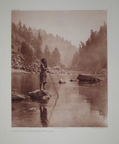 Edward S. Curtis (1868-1953), A Smoky Day at the Sugar Bowl Hupa Pl 471